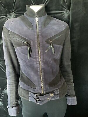 Versus by Versace Fitted Jacket Blue Size 40