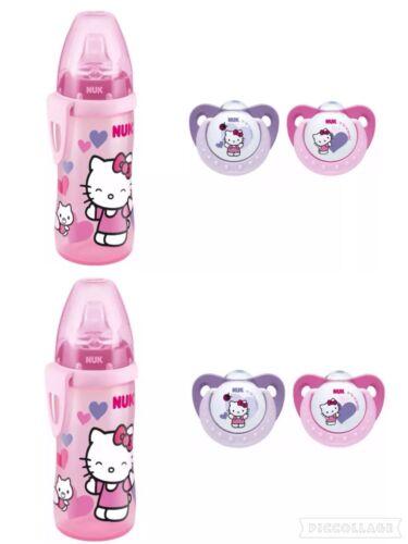 2er Pack NUK Trendline Silikon-Schnuller Hello Kitty Gr1&Hello Kitty Active Cup