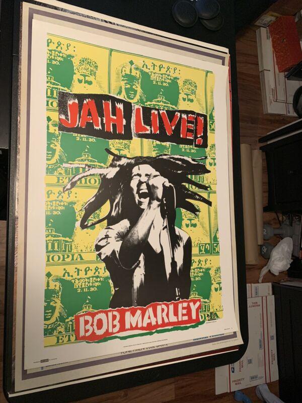 Rare Original 1990 Bob Marley English Commercial Poster