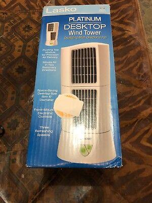Lasko Products 4917 Platinum Desktop Wind Tower Oscillating Cooling Fan