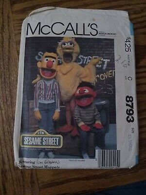 Bert Ernie Costumes Adults (8793 McCalls Bert Ernie Big Bird pattern costume XSmall)