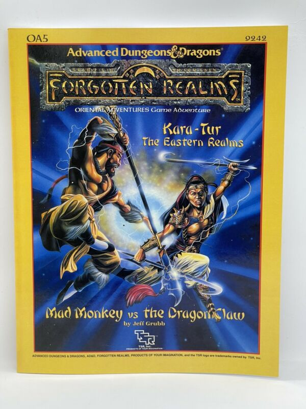 AD&D: OA5 - Kara-Tur - Mad Monkey vs. The Dragon Claw - TSR 9242 - PBR