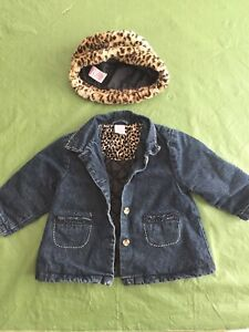 Adorable Jeans Jacket/Coat and Hat