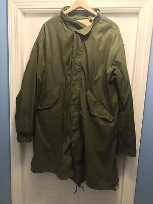 M1951 M-1951 US Extreme Cold Fishtail Parka Shell & Liner Medium Reg A+Condition