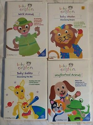 Baby Einstein Newton, Galileo, Animals,Shapes Discovering  DVD Age 9 Mos