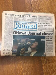 Final edition of The Ottawa Journal