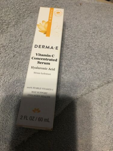 Derma E Vitamin C Concentrated Serum Hyaluronic Acid 2 fl oz