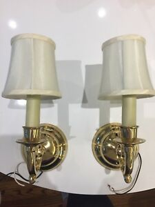 Brass finish wall sconces - 2