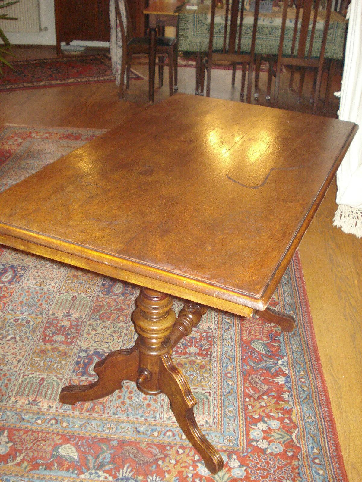 Antiker gr nderzeit tisch esstisch salontisch schreibtisch for Tisch schreibtisch