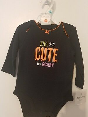Carter's Baby Halloween Romper Bodysuit I'm so Cute it's Scary (It's Halloween Baby)