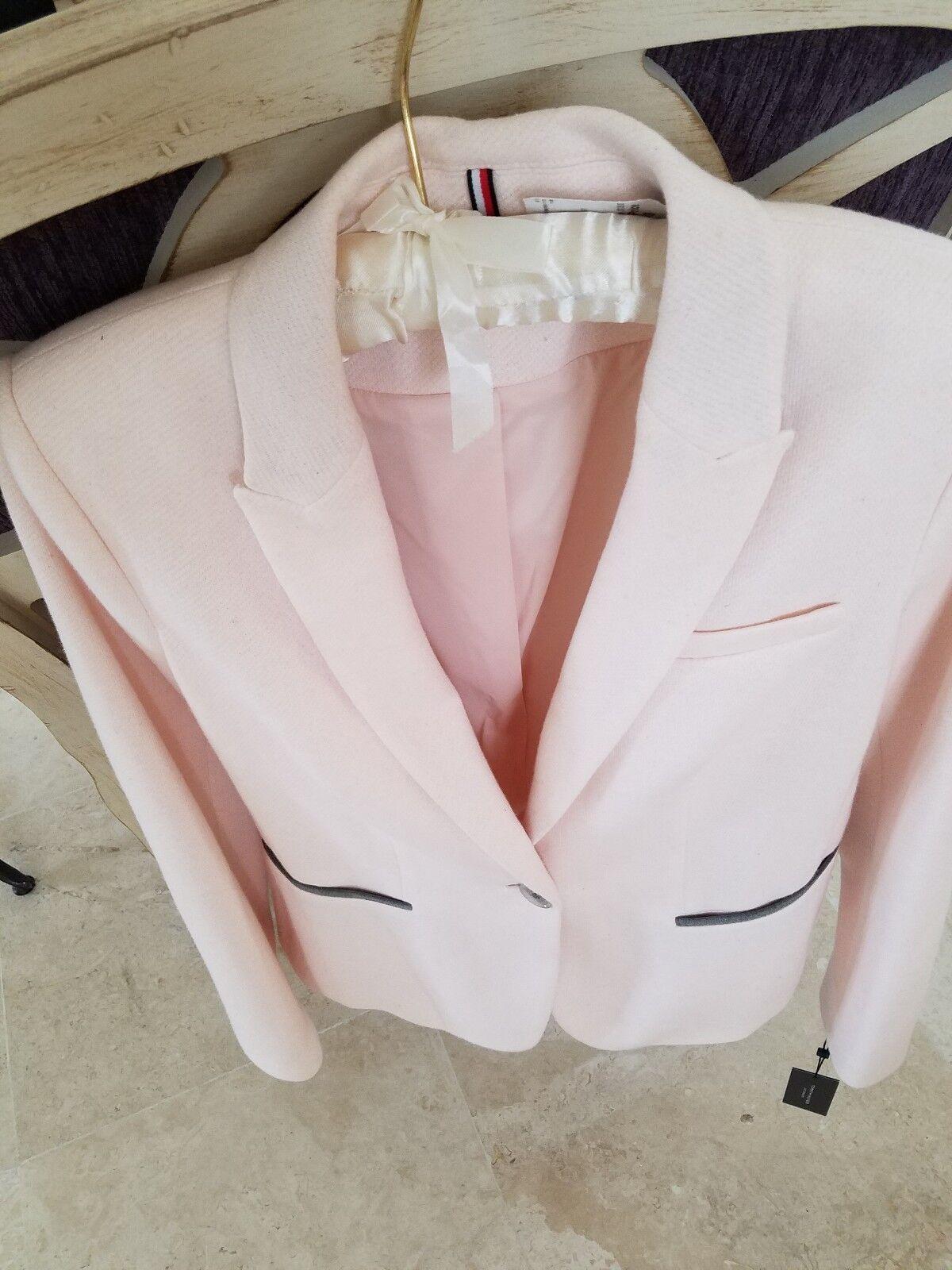 Tommy Hilfiger Damen Pale mit Rosa Grau Akzente Anzugjacke Size 6 Msrp