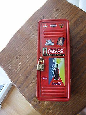 Coca Cola Locker with Lock Tin 2003 no key for lock