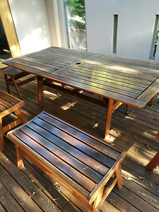 garden table and 8 chairs solid jarrah Adelaide CBD Adelaide City Preview