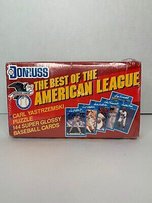 1990 Baseball Donruss Best of the American League (Factory Sealed) 144 Card