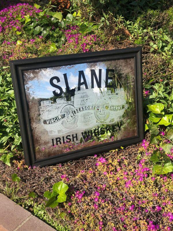 "Slane Irish Whiskey Beer Bar Mirror Pub Man Cave Pub  ""New"" Sign"