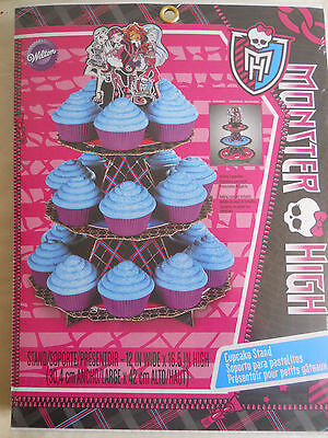 WILTON-3-Tier Cupcake/Treat Stand: Monster High  W5126677](Monster High Cake Pans)