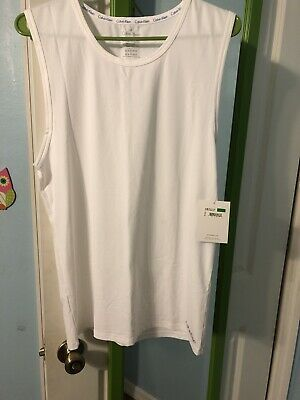 Calvin Klein AIR FX Muscle Tank Top in White Size:L Ret$34 New With Tag