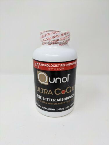 Qunol Ultra CoQ10 100 mg Supplement 3x Better Absorption 120 Count Exp: 2025