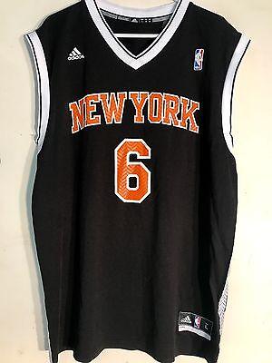 Adidas NBA Jersey New York Knicks Kristaps Porzingis Black Alt sz L
