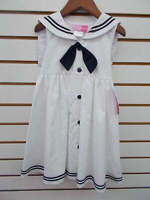 - Infant/Toddler/Girls Good Lad $40-$54 Navy & White Sailor Dress Sz 18m - 6X