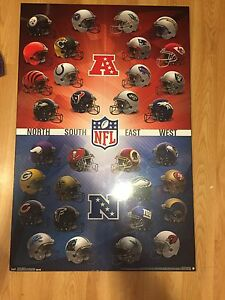 Nfl team wooden poster