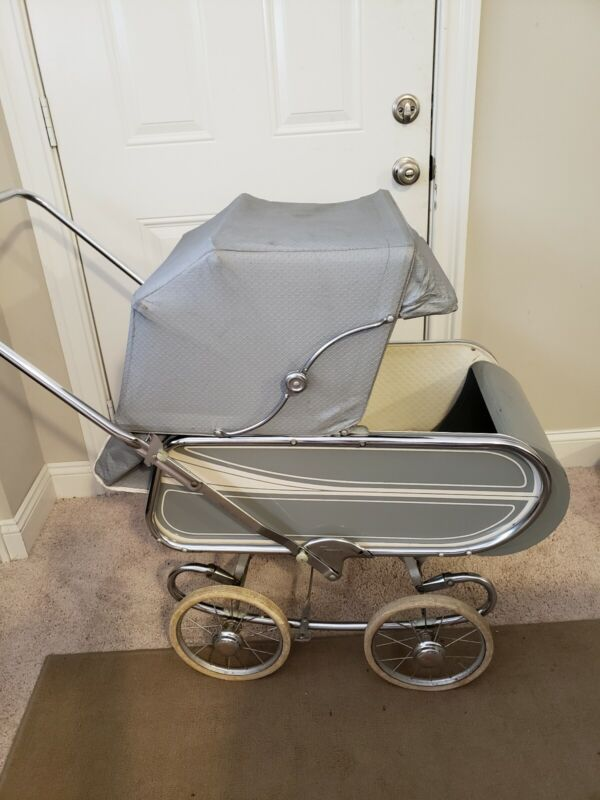 1940s Vintage Baby Stroller Carriage Bassinet Buggie Carriage Thayer