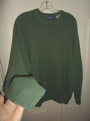 Gieves And Hawkes Men's 100% Cashmere Sweater Sweatshirt Style Sz Large SAGE GRN