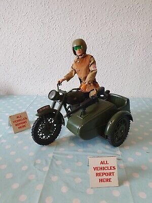 VINTAGE ACTION MAN PALITOY DESPATCH Figure MOTORCYCLE & SIDECAR,  ORIGINAL Nice