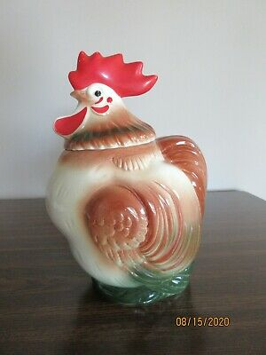 VINTAGE SIERRA VISTA ROOSTER COOKIE JAR, CALIFORNIA