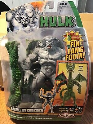 Marvel Legends Fin Fang Foom Series WENDIGO Figure +BAF Arm Wal*Mart Exclusive