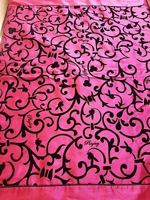 Bettwäsche Playboy Pink Schwarz Satin Mädchen Samt druck Ornamente Wohnen