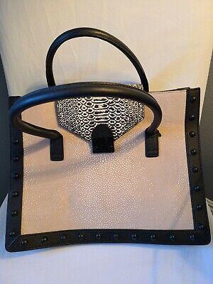 Loeffler Randall Faux Ostrich/Snakeskin Leather Handbag
