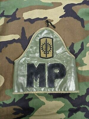 US Army Military Police Vinyl MP Armband Unit Marked 8th Military Police Brigade