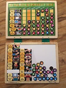 Wooden Children's Chore Task board with moveable pegs