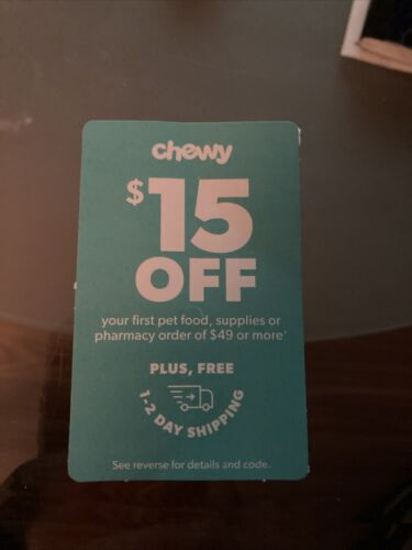 15 Off Chewy Coupon Expires 3/31/21 - $6.50