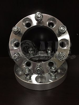 """2 X Toyota 1"""" Thick Wheel Spacers 6x5.5 Adapters 12x1.5 Studs 6 Lug Pickups"""
