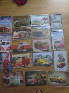 old style metal man cave signs vw combi