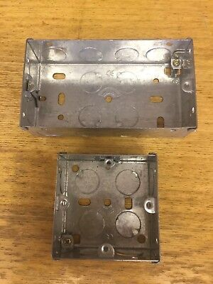 2 Metal Back Boxes single and double