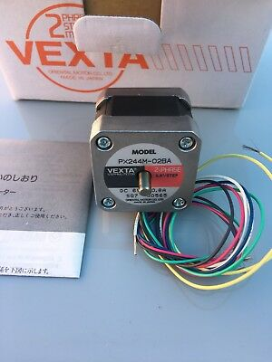 2 Pc. Vexta Px244m-02ba Double Shaft Step Motor Robotics 3d Printer Cnc.