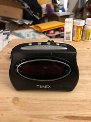 Black Timex Extra-Loud Alarm Clock, T101, Battery Backup, Snooze Button