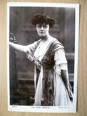 1908 Postcard- Actress MISS IRENE VANBRUGH, No. 1509 P + Stamp