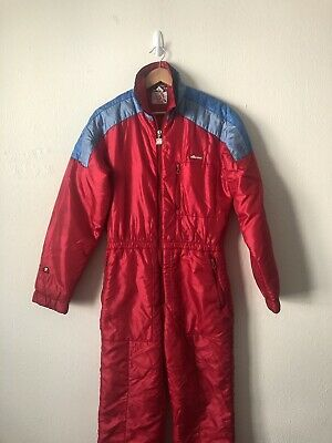 Vintage 80's Ellesse Ski Suit Aspen CO Made In Italy Colorblock - 80s In Aspen