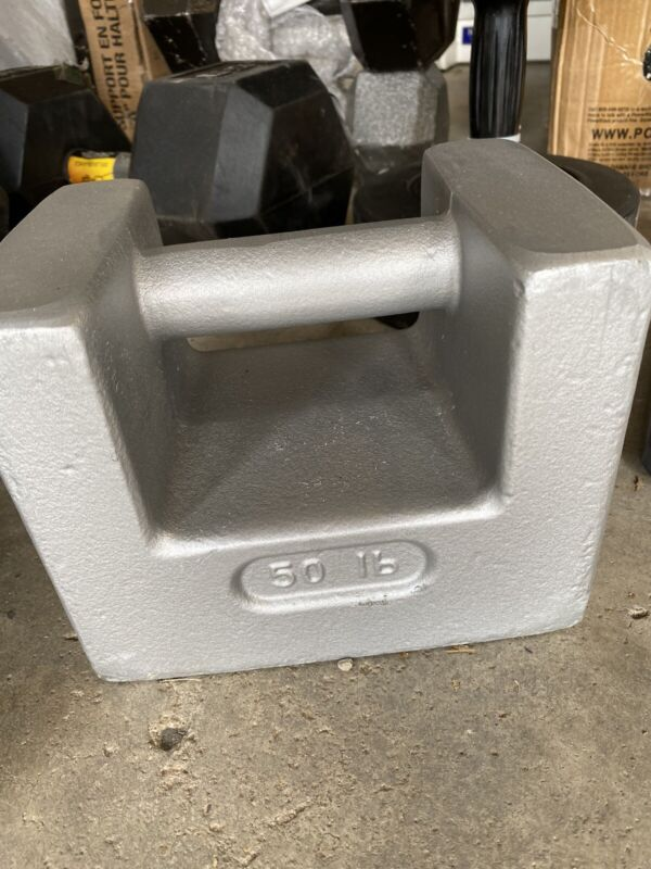 USED 50lb CALIBRATION WEIGHT GRIP HANDLE