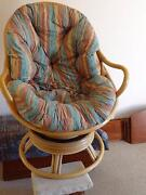 REVOLVING CANE EASY CHAIR/ROCKER WITH CUSHION Forest Lake Brisbane South West Preview