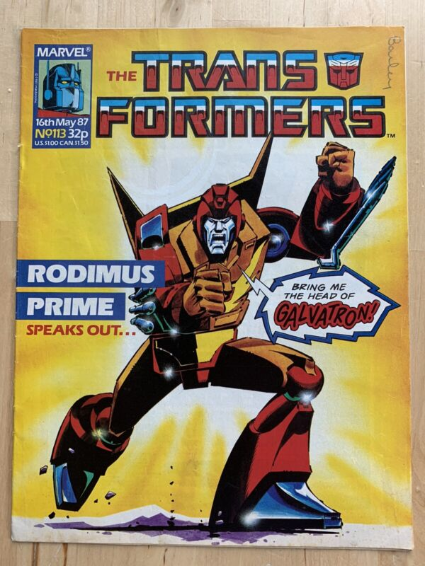 Transformers #113 Marvel UK First Appearance Deaths Head Comic Book G1 Magazine