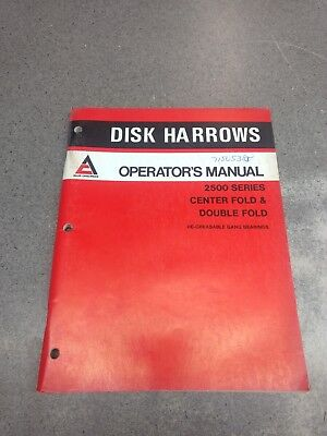 Allis Chalmers 2500 Series Disc Harrows Operators Manual 71505385