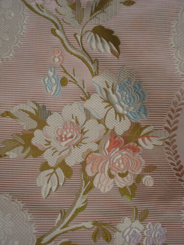 antique pink silk  brocade 18th c style