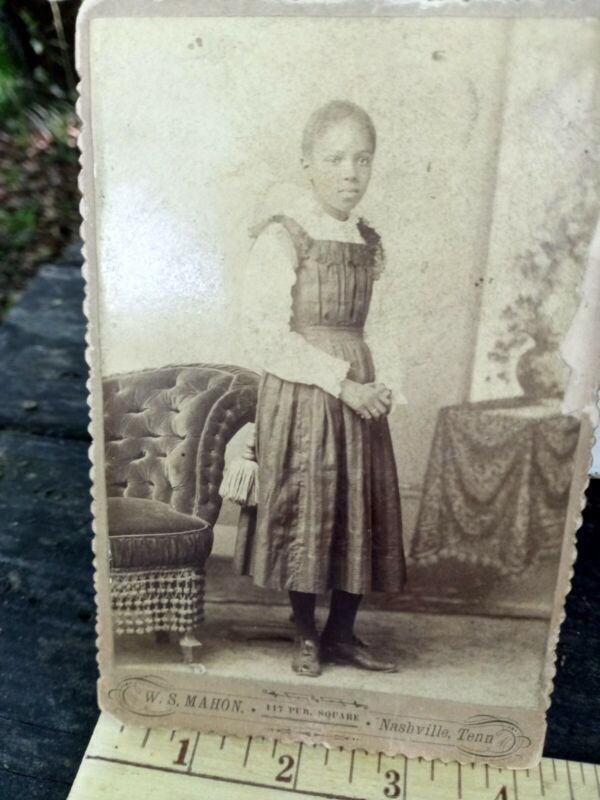 1880s African american female Freed slave cabinet card from Nashville TN