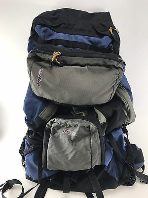 Jansport Rare Internal Frame Hiking Backpack Blue Large Huge Capacity Vtg USA