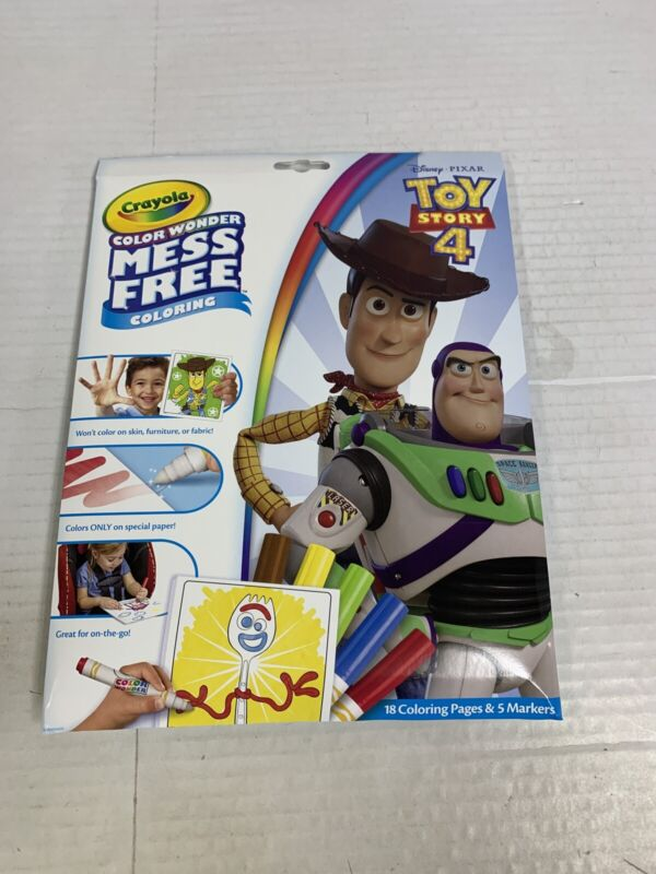 Crayola Color Wonder Toy Story 4 Coloring Book & Markers, Mess Free New